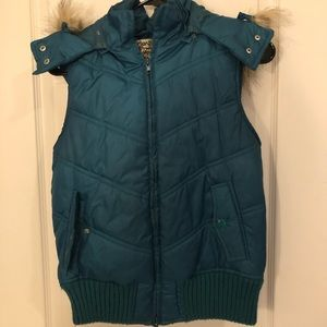 Forever Vest Size M with fur hood